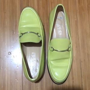 09b3665029a Gucci Shoes - Gucci Neon Lime Horsebit Loafers